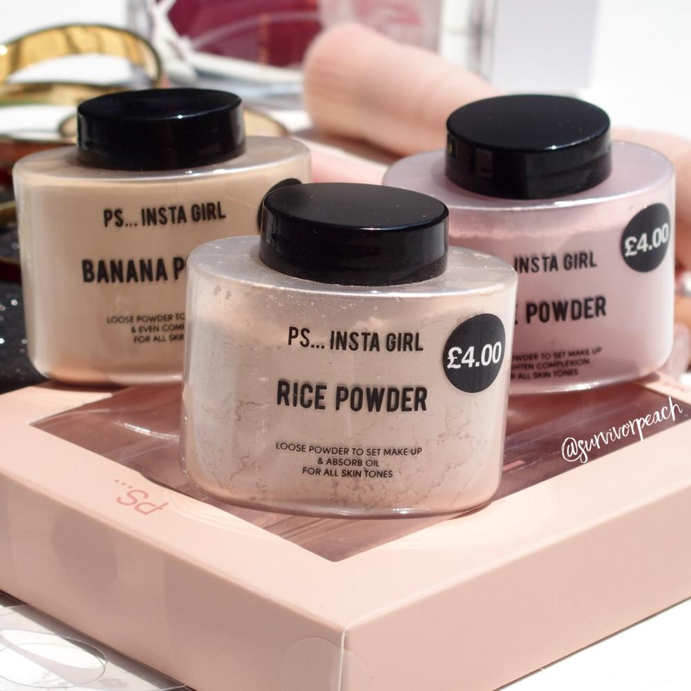 Primark PS Insta Girl setting powders