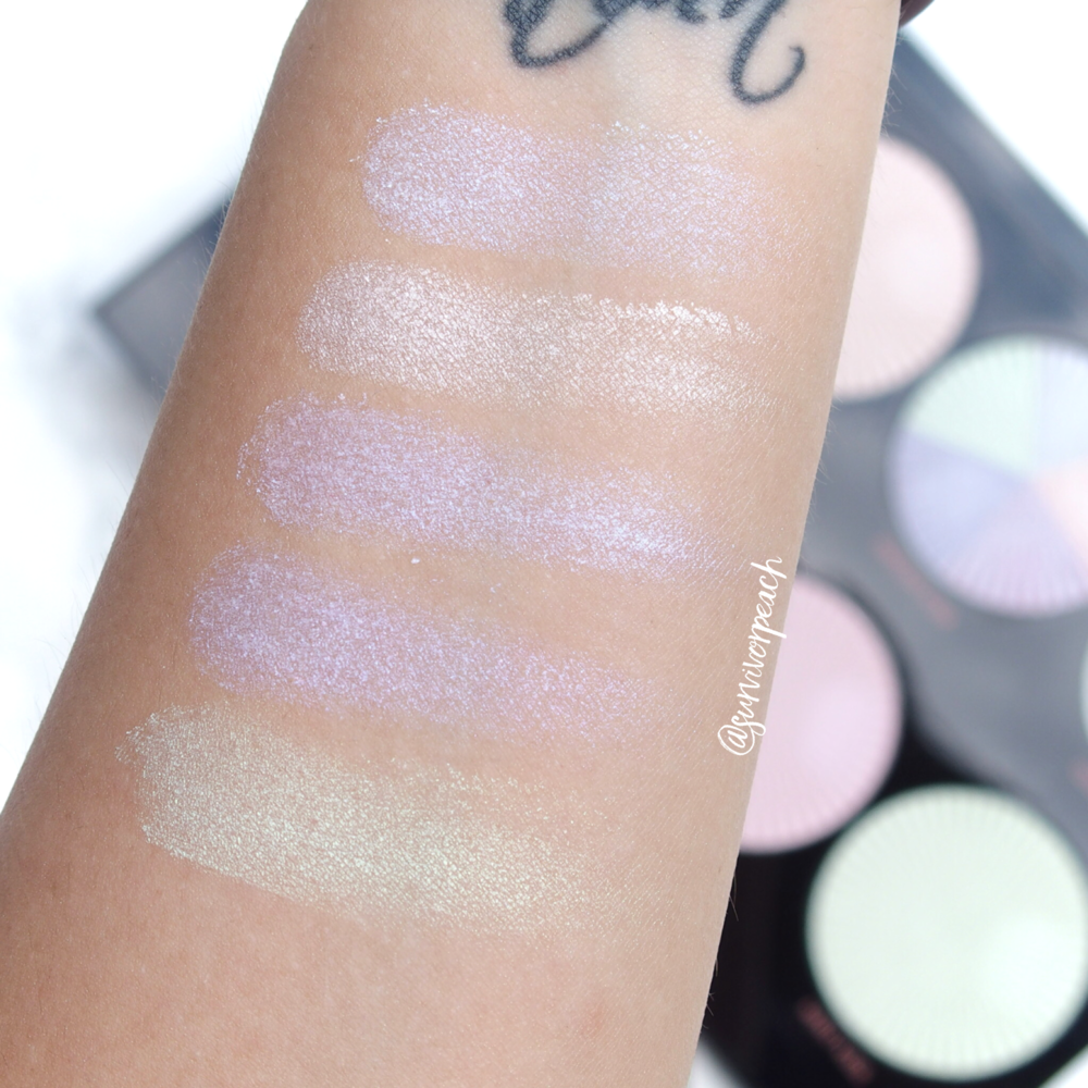 Makeup Revolution Pro HD Glow Getter palette swatches - shade Dream Kiss in shade