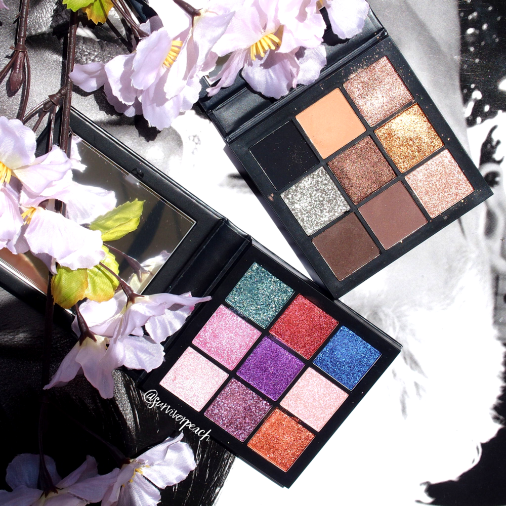 Huda Beauty Smokey Obsessions + Gemstones Obsession palettes