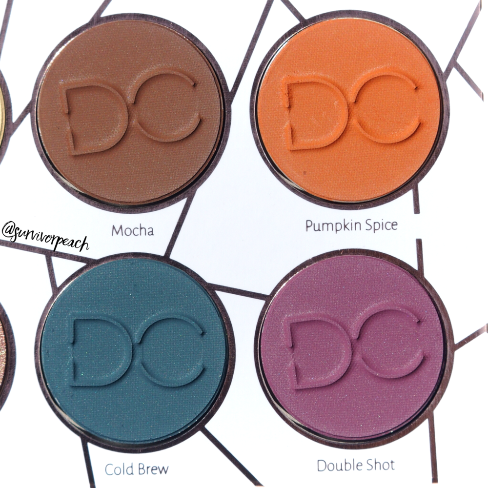 Dominique Cosmetics Latte Palette Closeup