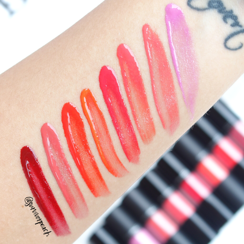 Mac Versicolor Varnish Cream Lip Stain swatches