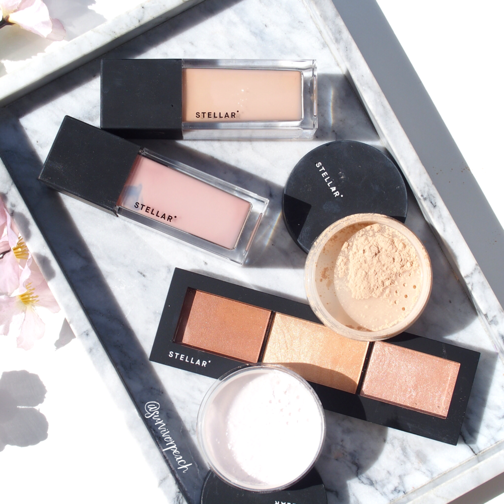 Stellar Beauty Cosmic Face powders, Sculptor palette, Limitless foundation and Brilliance primer.
