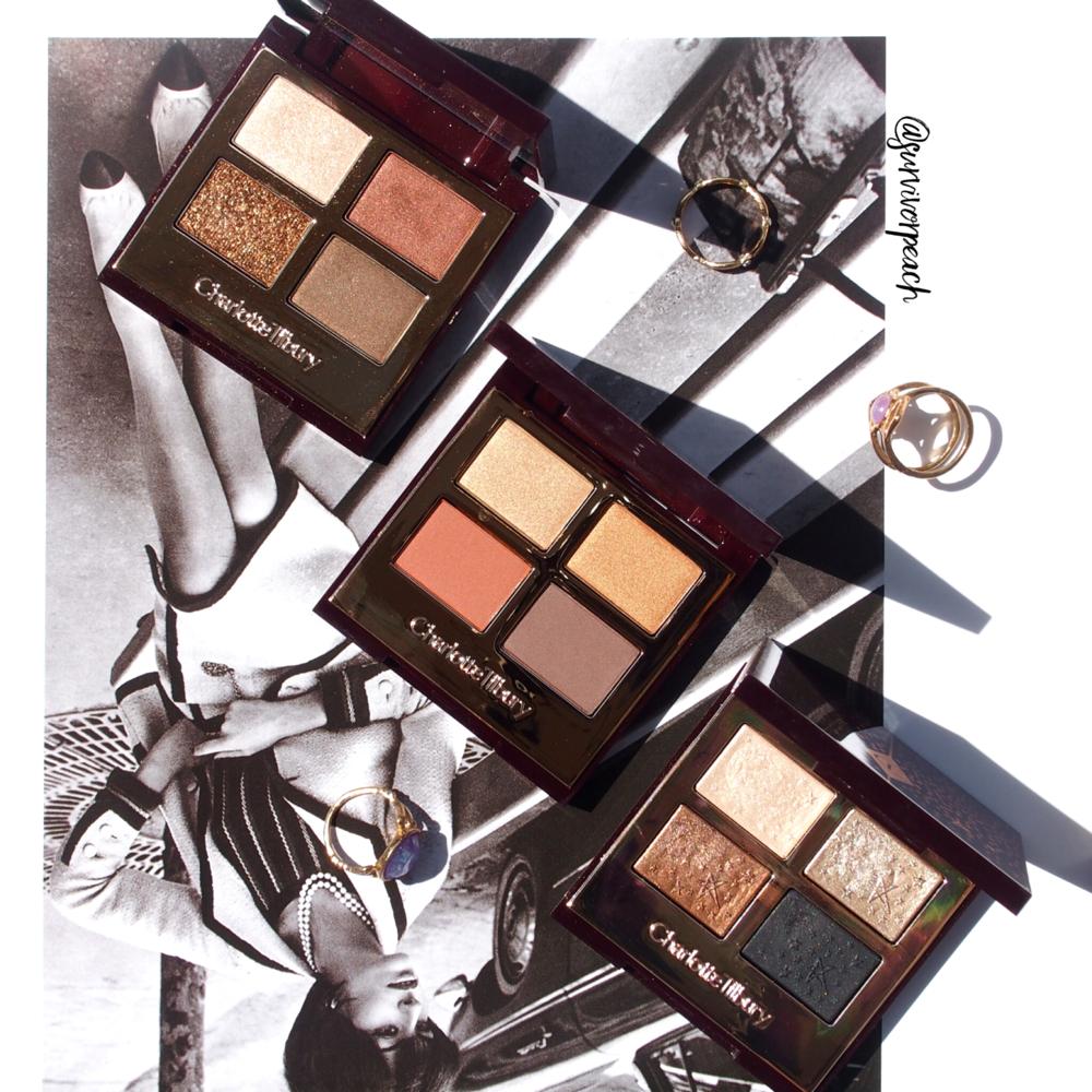 Charlotte Tilbury eyeshadow palettes - Dolce Vita, Exagger Eyes, Fallen Angel