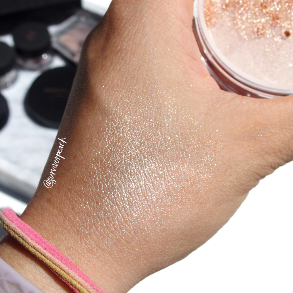 Inglot x JLo Livin' the Highlight Illuminator Face Eyes Body Radiant swatches