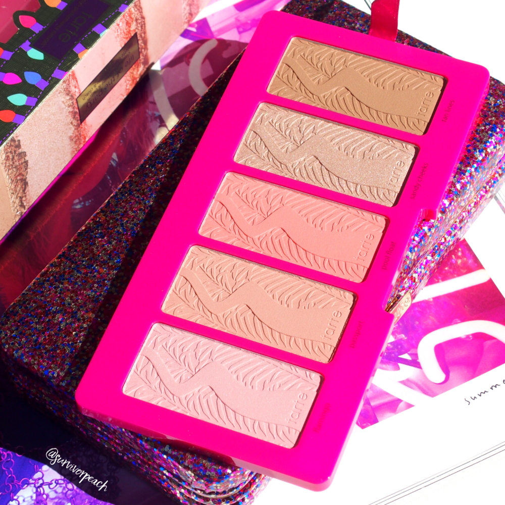 Tarte Life of the Party Amazonia Clay Blush palette & Glitter Clutch