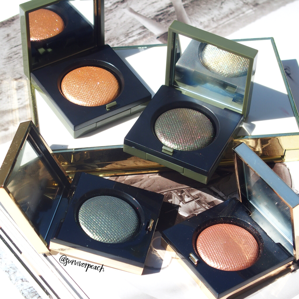 Bobbi Brown Luxe eyeshadows in Jungle, Incandescent, Poison Ivy, Melting Point.