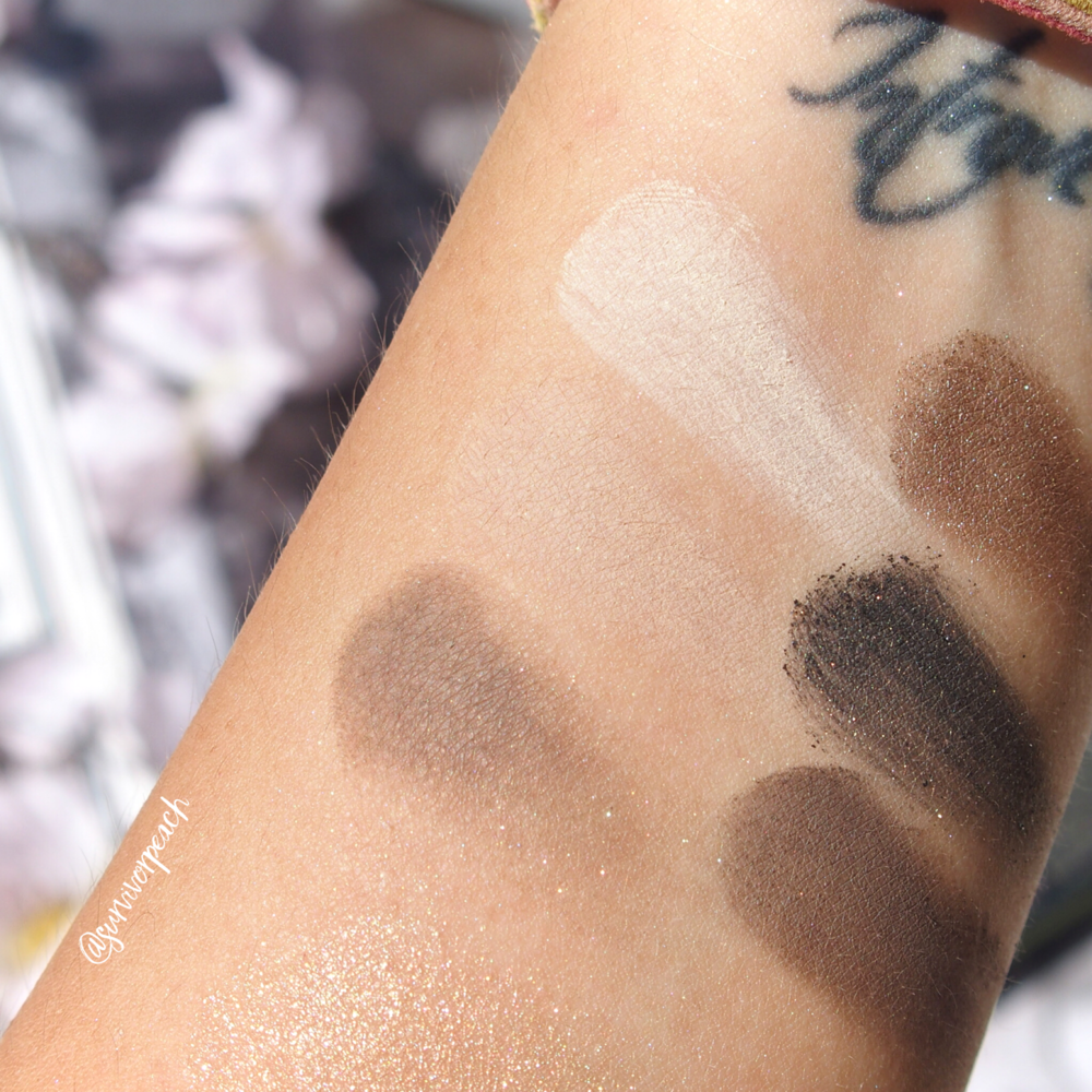 Bobbi Brown Camo Luxe Eye & Cheek palette swatches