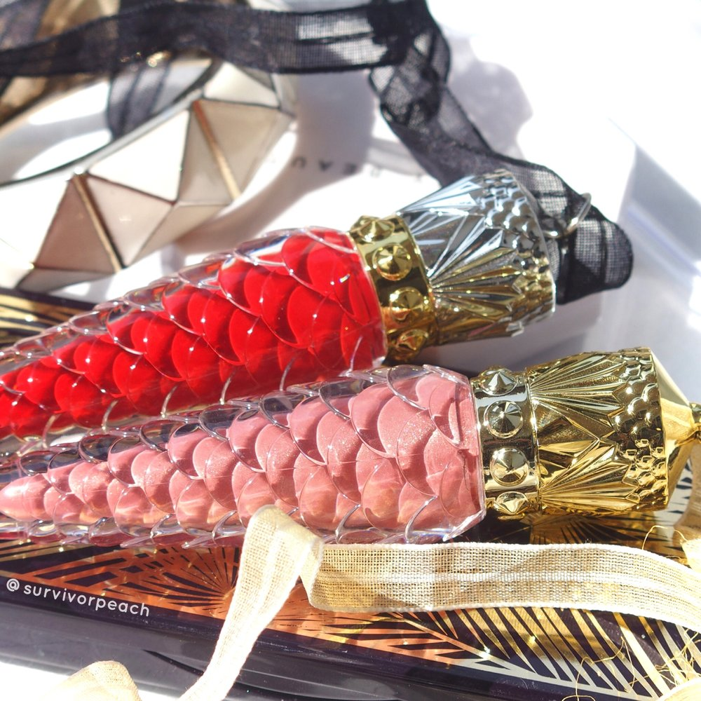 Loubilaque Lip Laquer in Altereva and Rouge Louboutin.