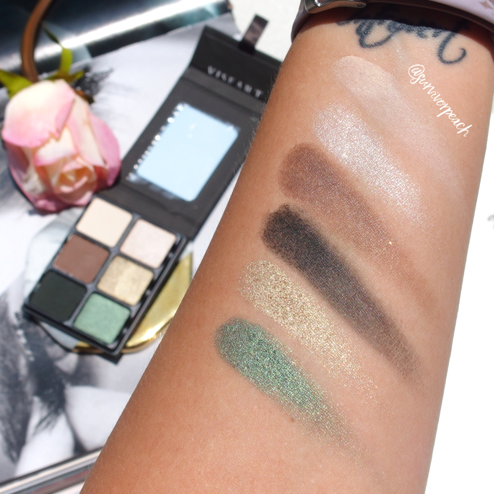 Swatches of the Viseart Theory VI Absinthe palette