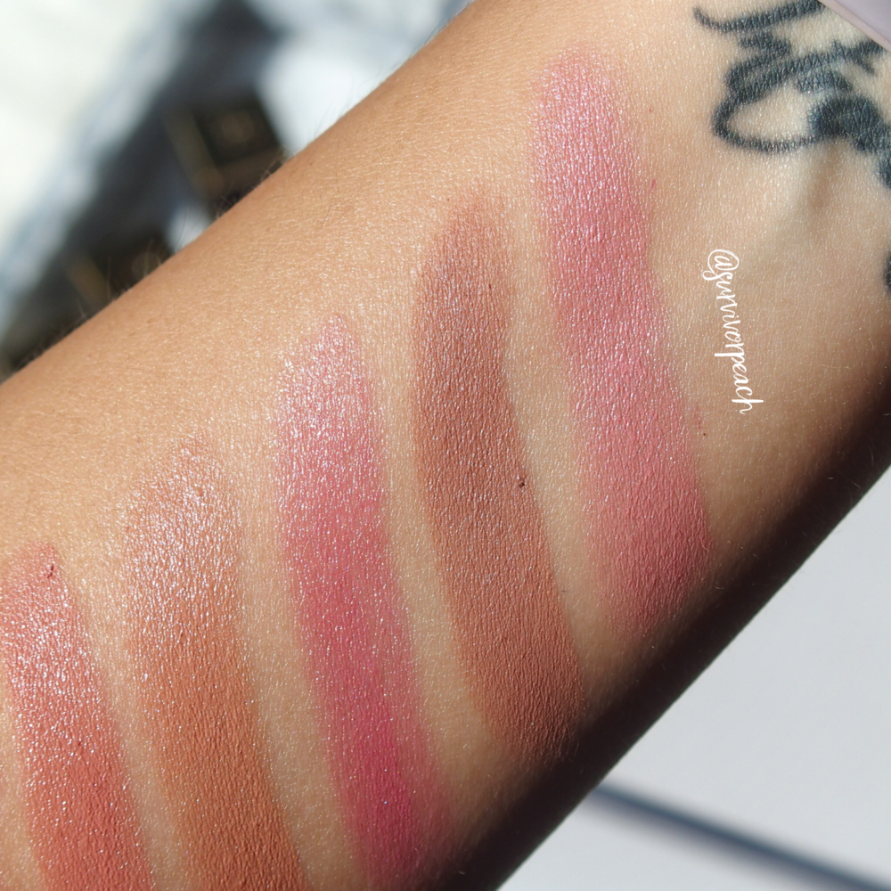 Swatches of the Tom Ford Lips and Boys in Flynn, Evan, Ansel, Bradley, Rover
