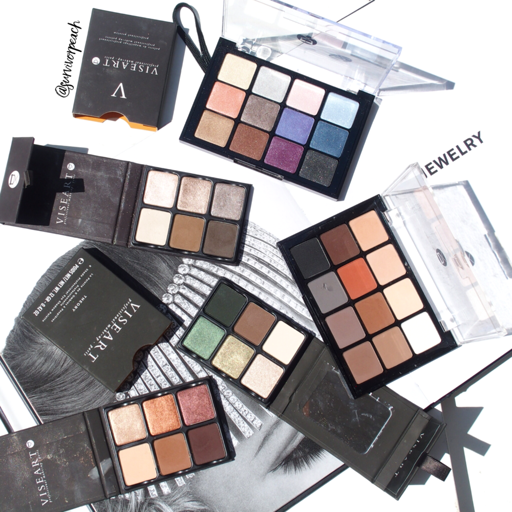 Viseart Theory palettes, Bridal Satin, Natural Matte palette