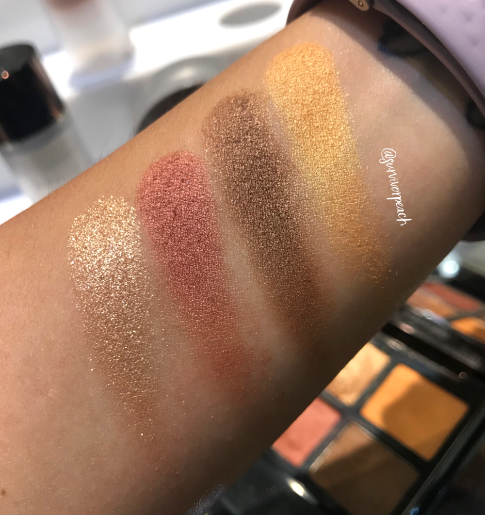 Swatches of the Tom Ford Eye Quad in Leopard Sun