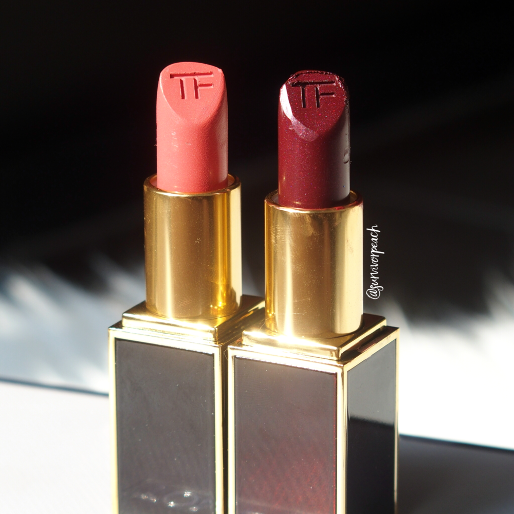 Tom Ford Lipsticks in Misbehaved and Bruised Plum