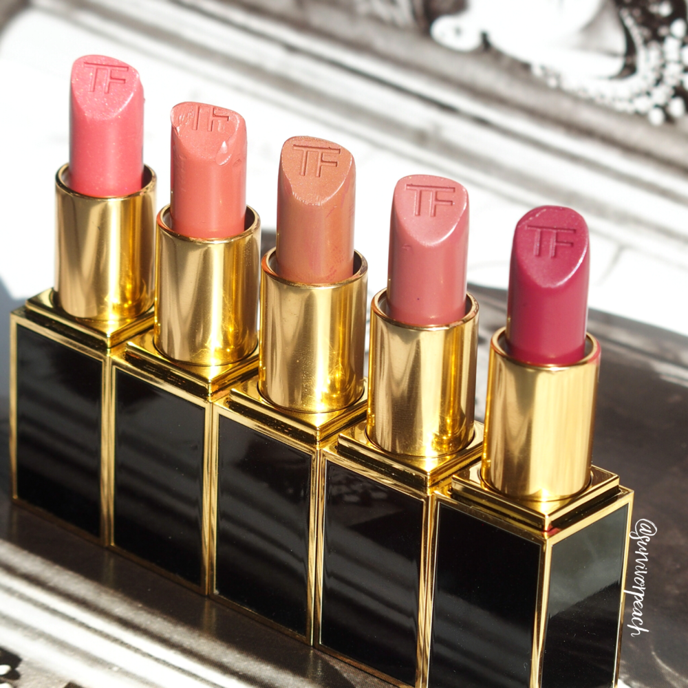 Tom Ford Lipsticks in Naked Coral, Twist of Fate, Negligee, Casablanca,, Adora