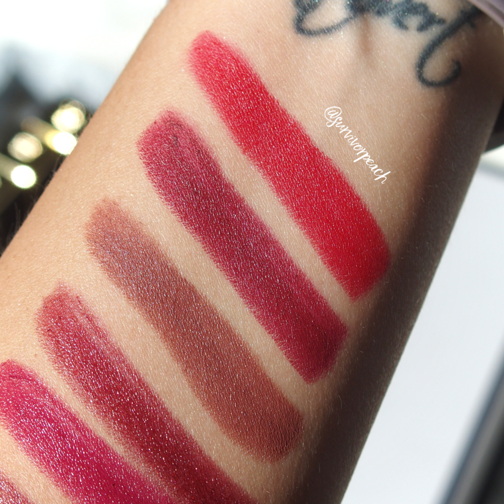 Swatches of the Tom Ford Lips and Boys in Dylan, Nicholas, Christopher, Inigo, Jack