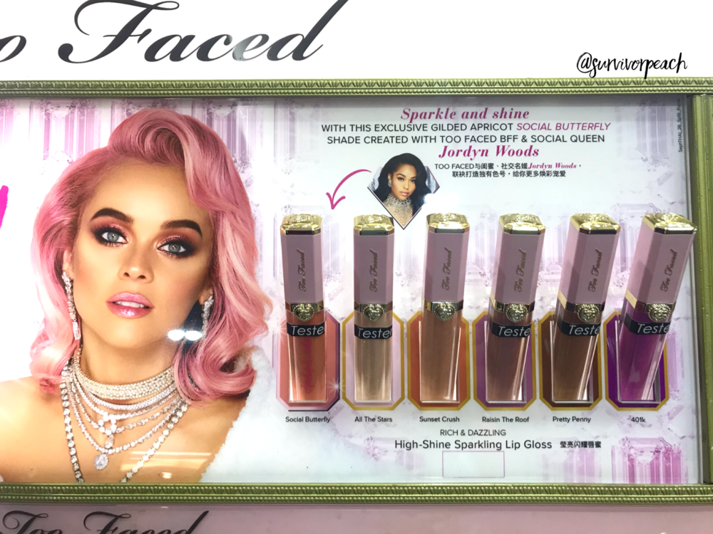 Toofaced Rich & Dazzling High Shine Sparkle Lip Gloss.