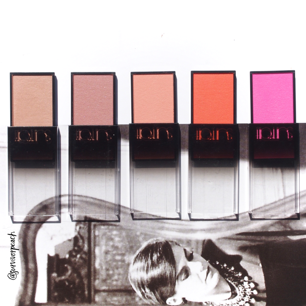 Surratt Astistique Blush in shades La Rosee Du Soir, La Vie In Rose, Parfait, Brillante Idee, and Se Pomponer