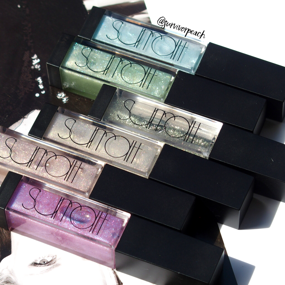 Surratt Beauty Lip Lustre in shades Je Ne Sais Quoi, Faux Pas, Etiole, Viola!, Oh La La, and Amethyst