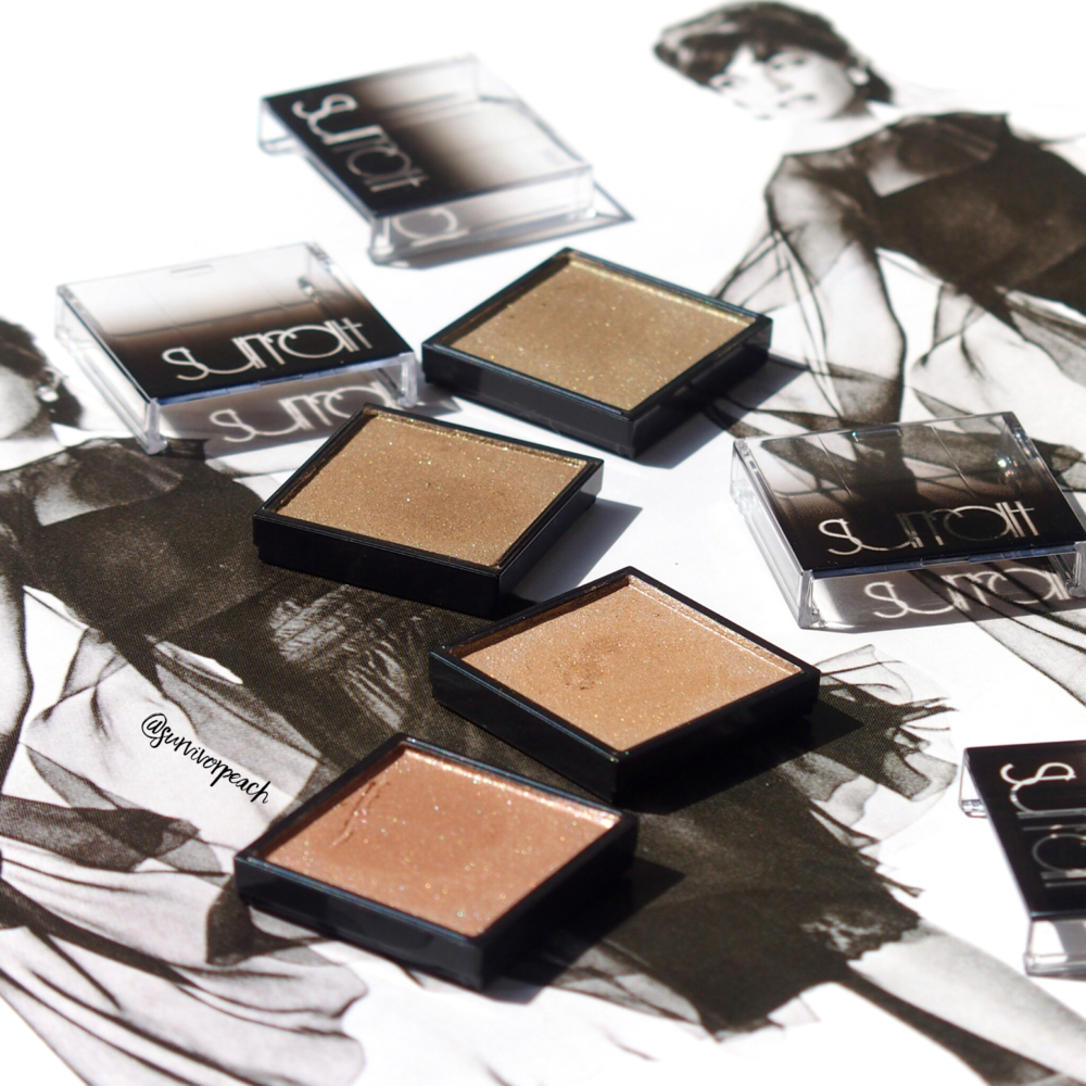 Surratt Artisque Eyeshadow in shades Dore, Moss, Vison, Zebilline