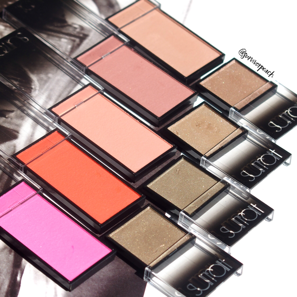 Surratt Artisque Eyeshadows and Artisque Blushes