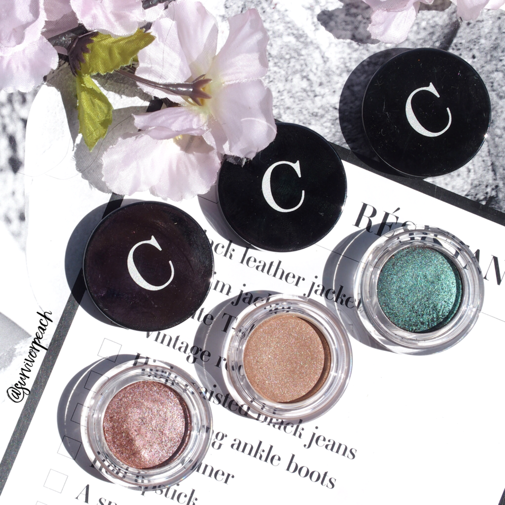 Chantecaille Mermaid Eye Shades in Starfish, Sylvie, and Lagoon