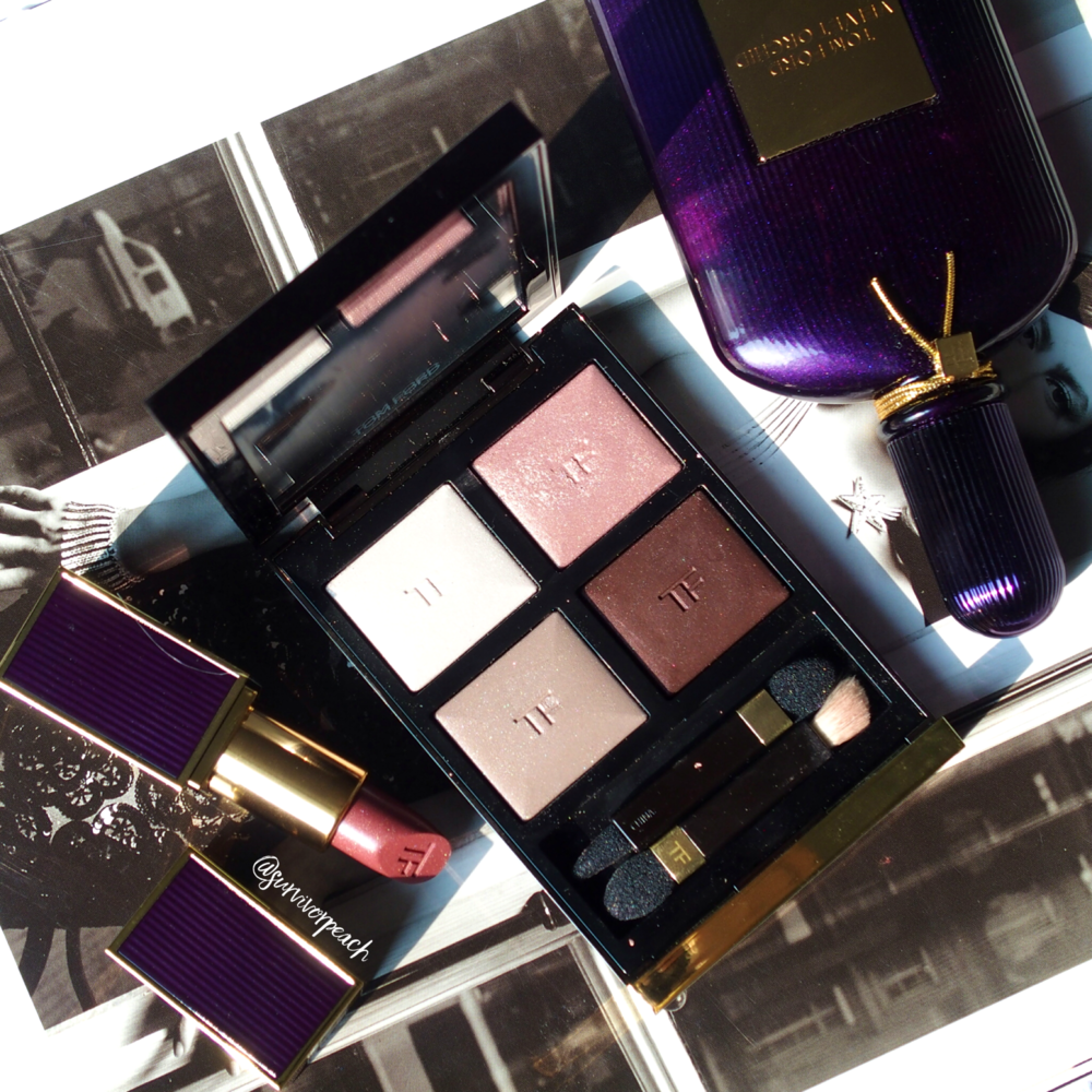 Tomford Velvet Orchid perfume and Lipstick + Virgin Orchid Eyeshadow palette swatches