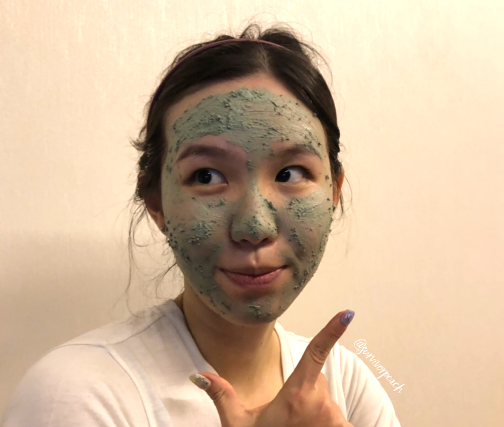 Me wearing Lush Mask of Magnaminty