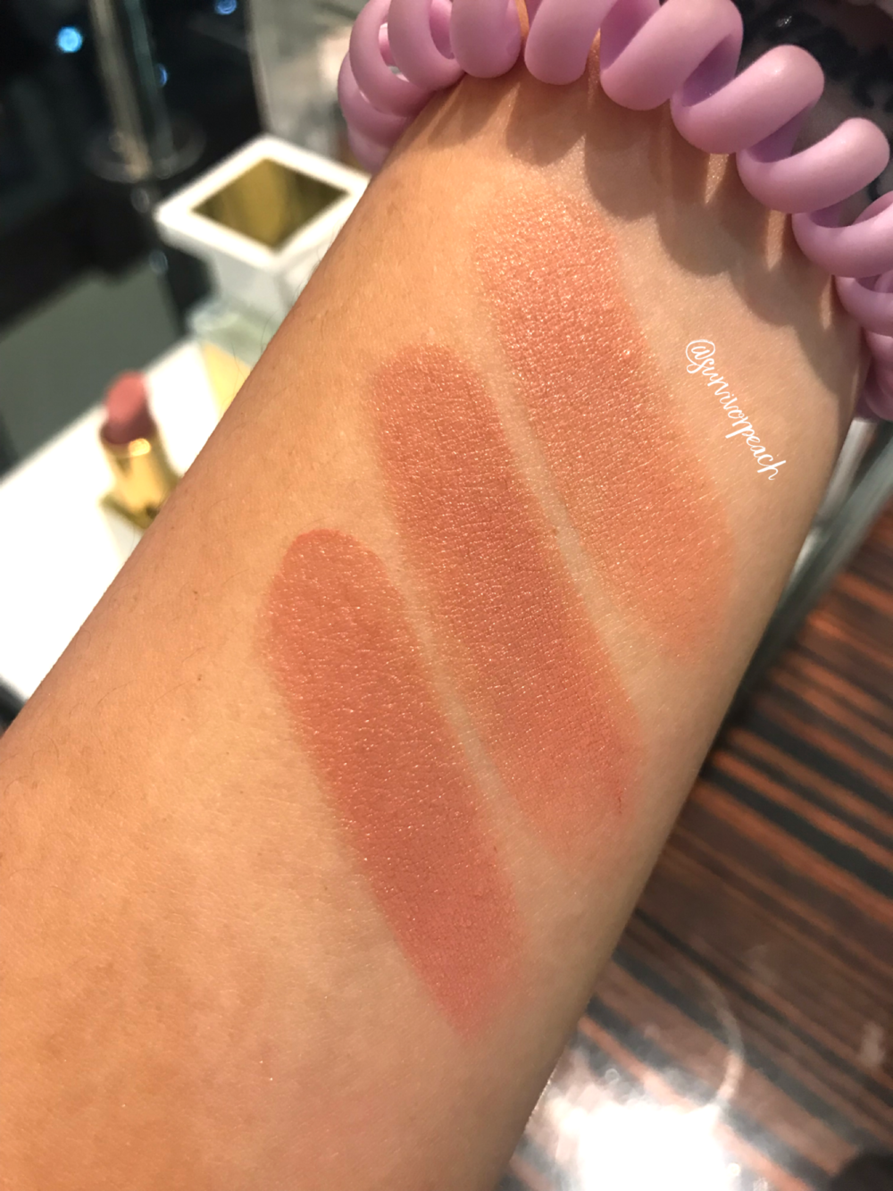 Tom Ford Lipstick in Erogenous, Musk Pure, and Sable Smoke
