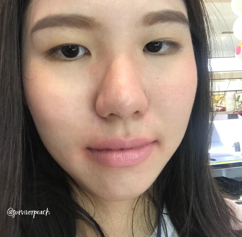 Me wearing Tom Ford Lipstick in Jasmine Musk