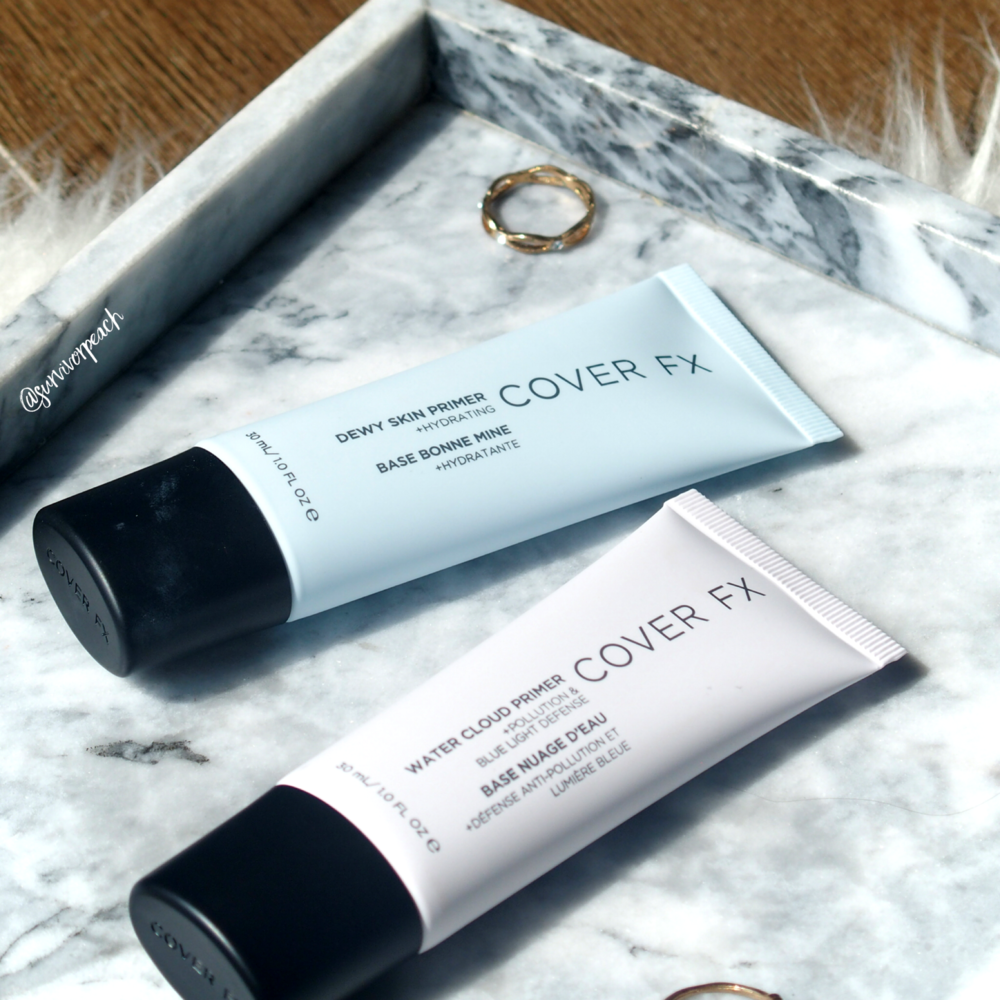 Cover FX Dewy Skin Primer and Water Cloud Primer
