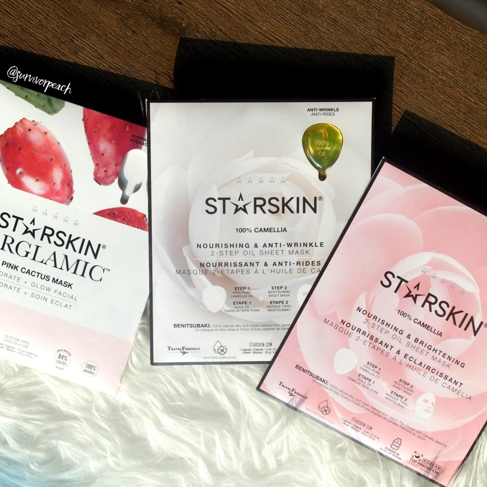 Starskin Pink Cactus Mask, Nourishing & Brightening 2-Step Oil Sheet Mask, Nourishing & Anti-Wrinkle 2-Step Sheet Mask