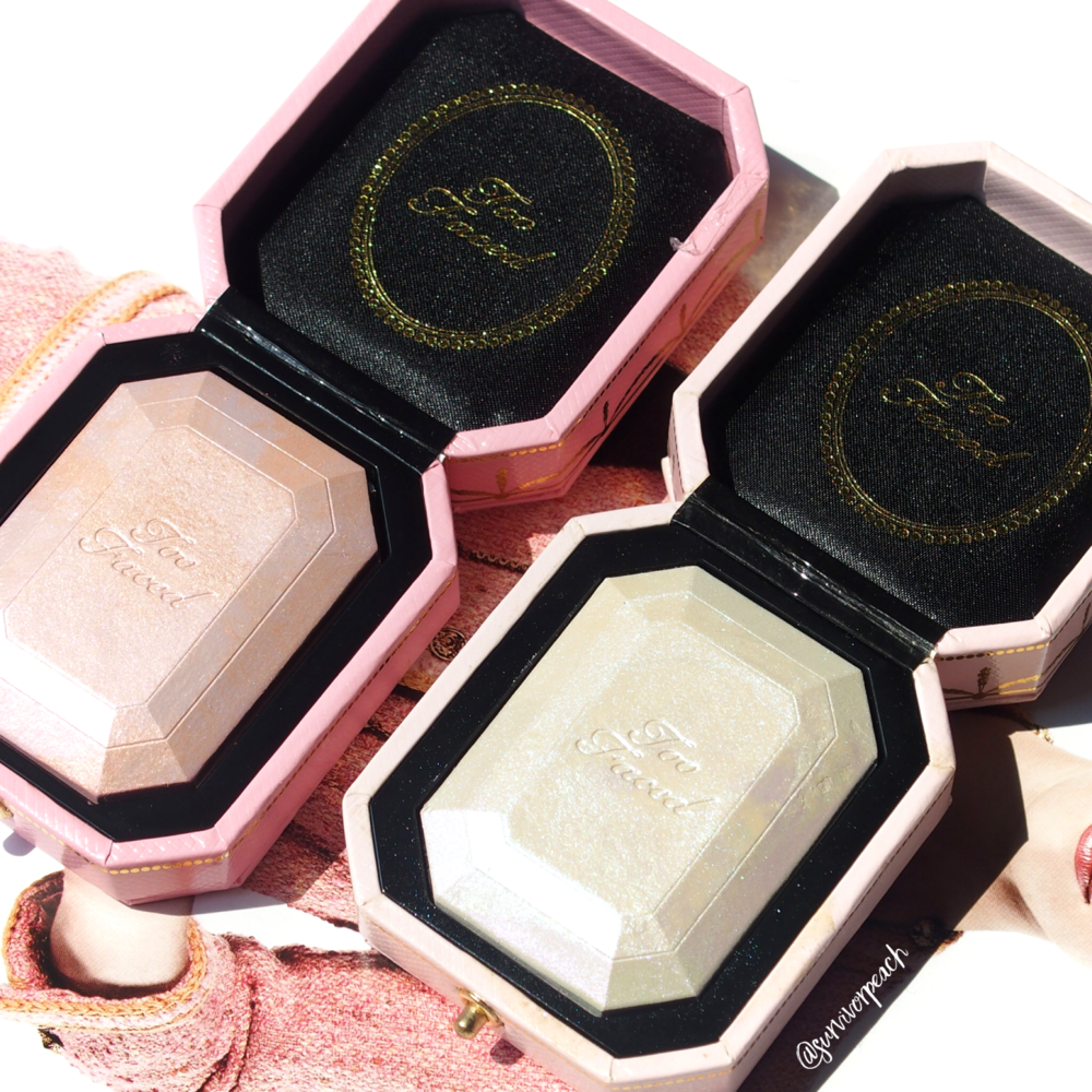 Toofaced Diamond Highlighters - Diamond Fire and Fancy Pink Diamond