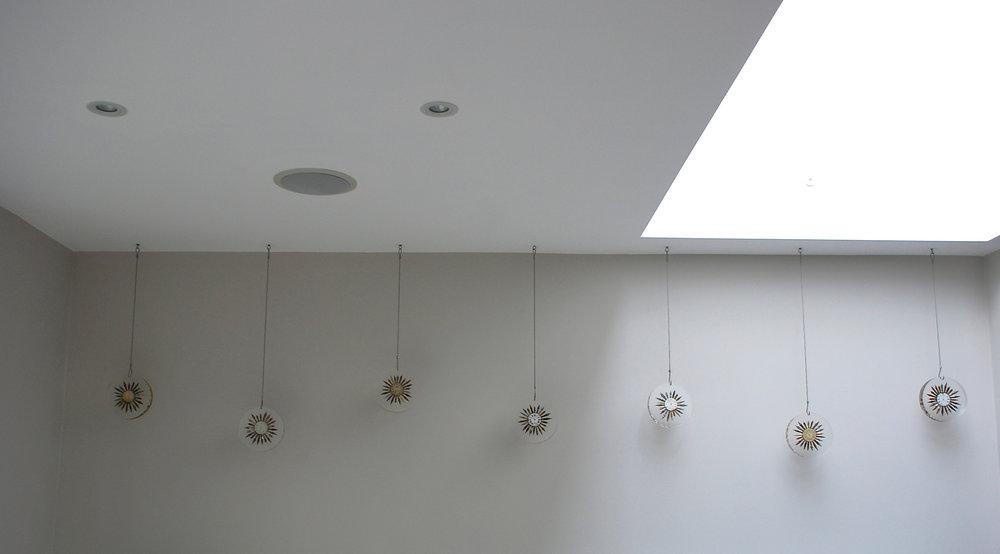 Hanging resin sculptures