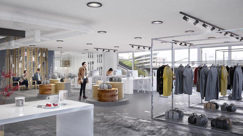 Butikk/showroom/kombinasjonslokale