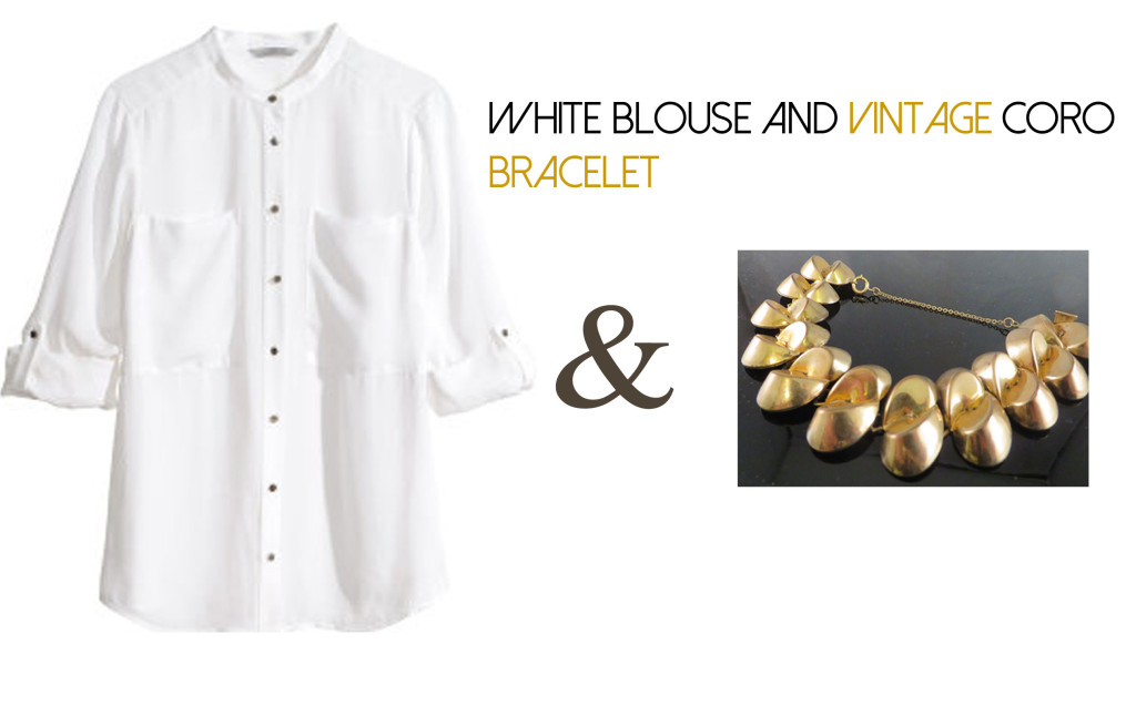 White Blouse and Corro Bracelet