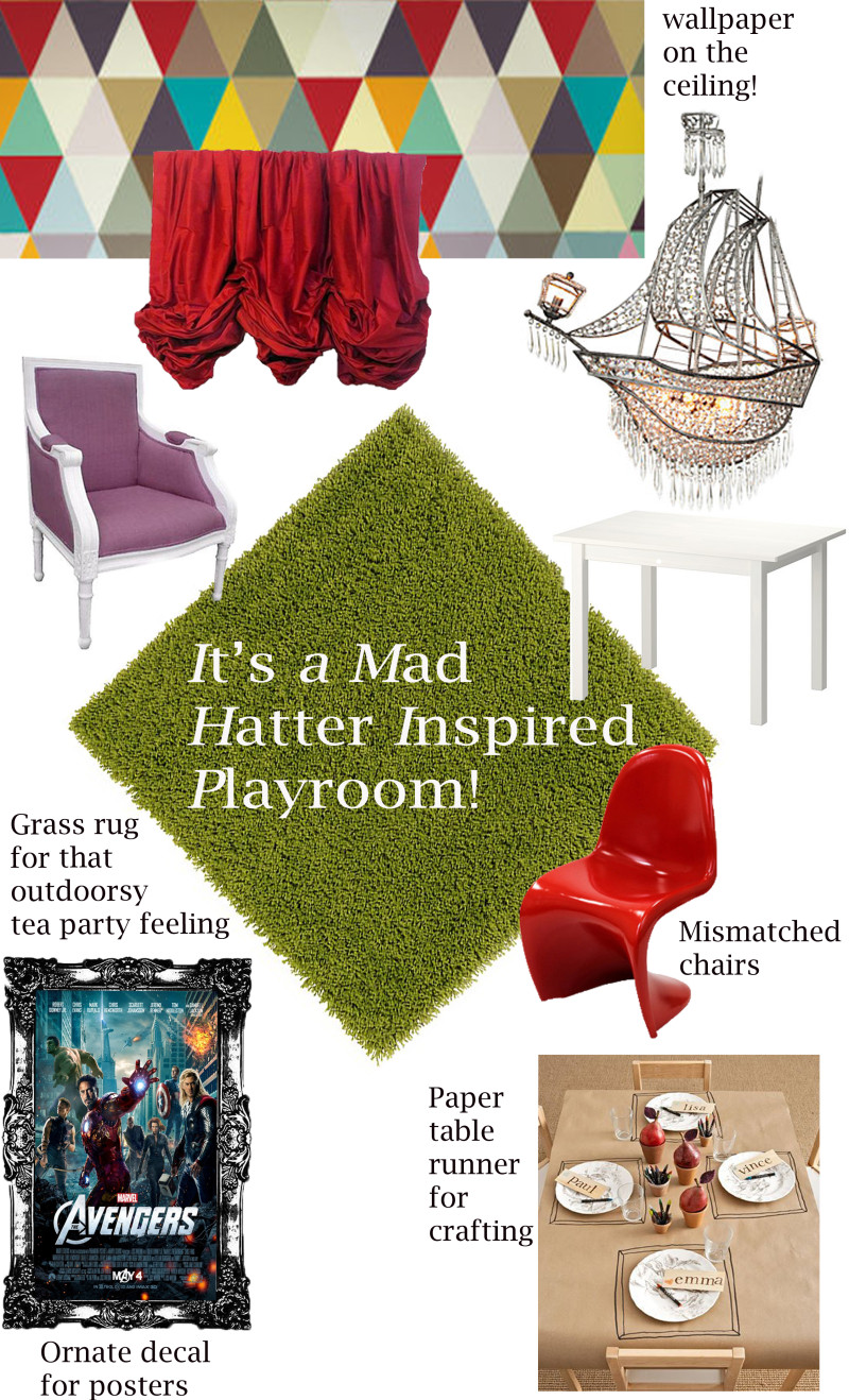 Mad Hatter Inspired Room