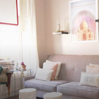 Whimsical, flirty style for a designer's Brooklyn studio