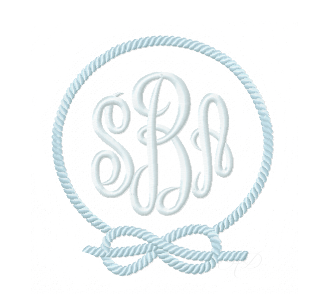 nautical rope frame embroidery design  u2014 herrington design