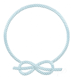 nautical rope frame embroidery design - Nautical Picture Frame