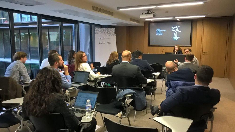 Octubre 2016, Taller de experimentos en el programa LegalTech de CuatreCasas y  Open Future, CuatreCasasAcelera