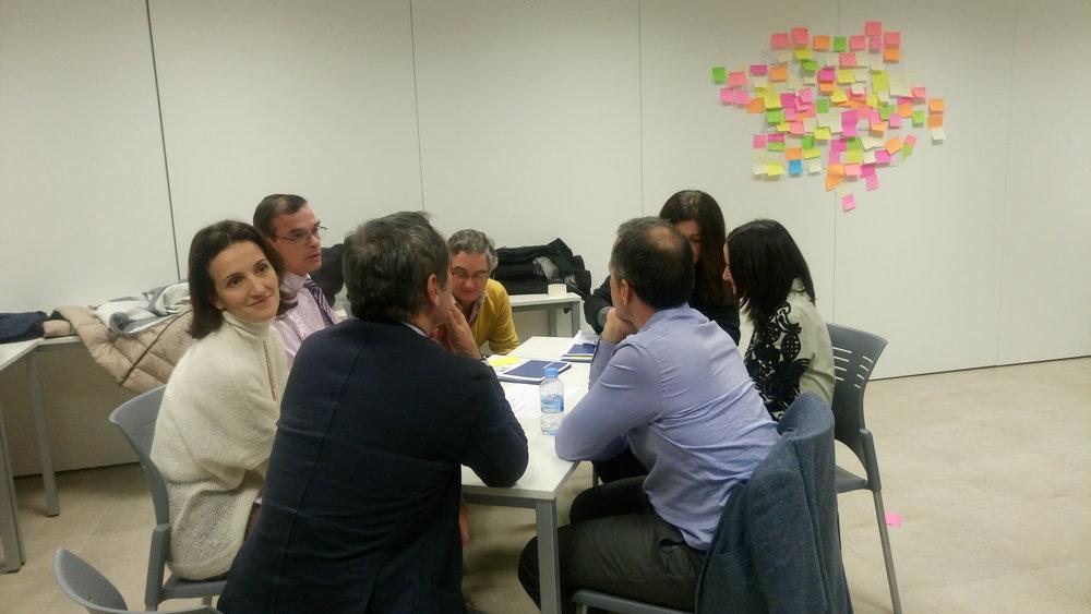 Enero 2017, Trabajo del equipo aplicando técnicas de Design Thinking tales como Persona en el  Instituto De Desarrollo Directivo Integral (Iddi) de la Universidad Francisco De Vitoria