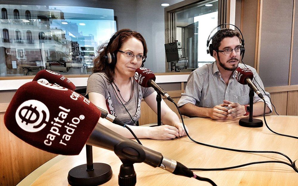 Julio 2017 En  Capital radio  presentando el proyecto  CrowdWeekend de Crowdemy