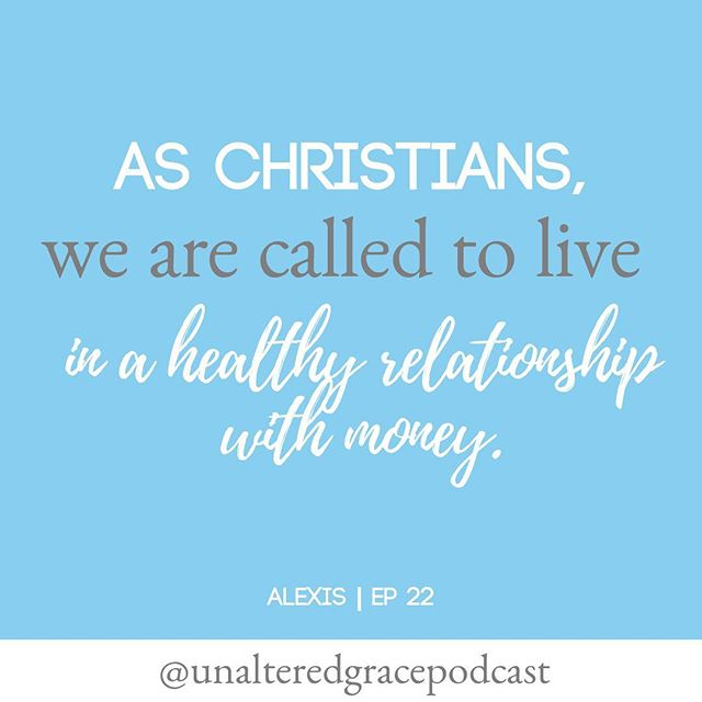 """As Christians, we are called to live in a healthy relationship with money.  __________________________________________  Money is amoral; it's not good or bad in and of itself, but how we relate to it is a different story. It all starts with having a healthy relationship with money."" ___________________________________________ 🎧Stewarding Finances Well 