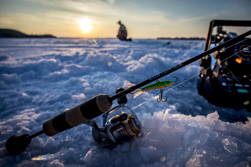 Featured -  Croix Custom Ice  by St. Croix Rods  Photo Credit -  Matt Addington Photography