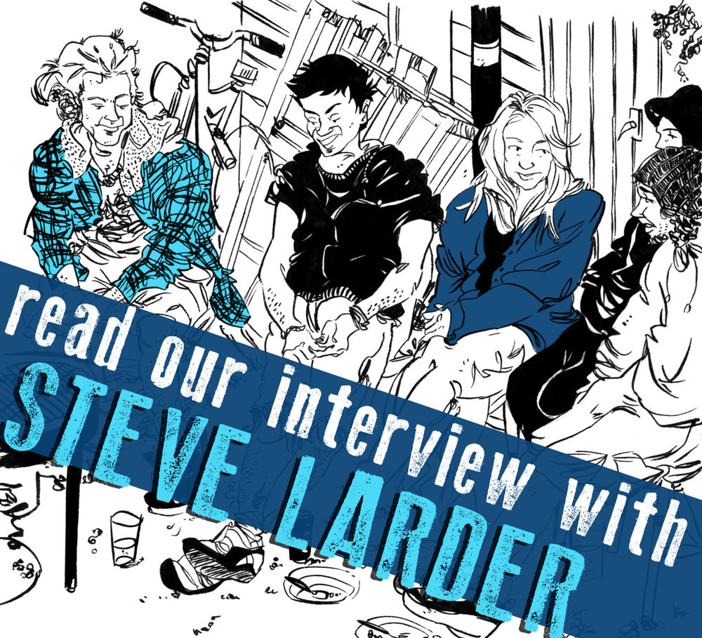 "SILVER SPROCKET Interview with Steve Larder     It was around this time last year that we talked with  Steve Larder , one of the  As You Were  regulars, so we figured it was about time we found out what he's been up to since. Hint: it involves making art, playing music, and traveling. Keep reading for the specifics.     Interview by  Natalye  for  Silver Sprocket      What have you been doing since we  last talked to you ?     Well, I managed to bust out three issues of my zine,  Rum Lad  and it's made me think about how I approach zine making. Older issues would sometimes take months and months to complete, but in February '15 I decided to scribble something together on my work lunch break and the majority was done in about half an hour. It's definitely scrappier but seemed to go down well.    I played a lot of gigs in the UK as well as in Europe (including Supersonic Festival in Holland), recorded a bunch of songs, and even  The Copy Scams  managed get together and play! In the summer, me and my partner, Tanya, flew over to the USA to visit some mates ( Alex  of  Brain Scan  zine and her boyfriend, Paul) where we all leapt into a car for a road trip over to Yellowstone National Park for some sightseeing. It was a real good treat.   In the newest  AYW , we learn about your time living with a bunch of hippies. At the very end you appear to have assimilated as one of them, with your Hawaiian t-shirt and Birkenstocks. Did any of their hippy ways rub off on you? What aspect of your behavior/personality would you say is the ""most hippy like?""   Well, I was with my brother the other day and he commented that I had a bit of B.O., so apparently I've inherited some hippy funk along the way since leaving that house. Gonna start washing extra careful under those pits since that enlightenment.     A lot of your prints deal with themes of the environment. What is it about this topic that interests you?   I just like drawing places; it's as simple as that really. I've always enjoyed getting lost in details, and when you're drawing forests, that's pretty easy to do. I'm also a mere train ride away from beautiful Peak District scenery, so I've got fairly easy access to landscapes that have a lot of folklore attached to them.   You also seem to draw a lot of storefronts—bookstores, record shops, restaurants, etc. Do places have to be architecturally or visually interesting, or do you choose them more based on businesses you go to a lot/support?   A bit of column A, a bit of column B. Most of my work is in reportage illustration so I tend to keep an eye out for visually interesting buildings and what have you.     Some of your work appears in an adult coloring book, ""Colour Me Bad."" Tell us about this.   The editor wanted work of mine that could be defined as ""stressful,"" and I had plenty of illos of busy streets and city environments, where it could be argued that they're inherently anxiety and stress-inducing. I've never colored anybody else's work, but if people are into it, I don't have a problem, obviously.     If you had to choose one artistic piece of output of yours that would be representative of who you are to show someone who is not familiar with your work, what would it be?   I suppose the more recent issue of  Rum Lad.  I reckon it's got a nice balance of my more ""realistic"" and comic styles.   What does 2016 have in store for you?    2016 has some travel plans and a new issue of  Rum Lad , where I'm going to attempt drawing something that's been a part of my life for a little while now. I can't be more descriptive than that at the moment!   Off the top of your head, who are some artists whose work you love that fans of your comics should check out?   I would have to encourage people to check out  Jack Fallow's work —their comics and artwork are always riveting and relatable.   Also, my mate  Tara Hill creates some beautiful drawings  for gig posters and stuff. Dead nice.    What question do you like to be asked / wish you were asked but never were… and what's the answer?   If somebody asked me what my favorite Neurosis album was, I'd probably talk for hours and hours. The answer would probably be like an essay. Maybe I should make a zine about it?   Now that you're as stoked on the forthcoming  Rum Lad  as we are, check out  Steve's art ,  buy a print or two for someone you love , and order your copy of   As You Were: Living Situations  ."