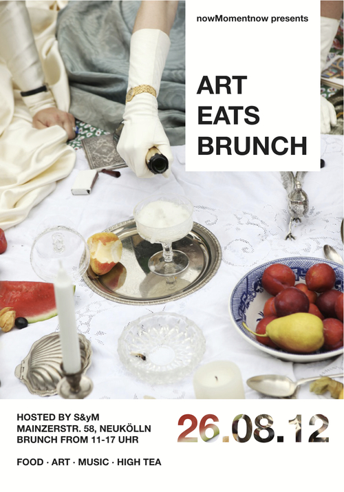 "UNLIKE CITY GUIDES   Art Eats Brunch    Get your brunch on this weekend as  nowMomentnow  hosts ""Art Eats Brunch,"" a merging and melding of creative and artistic types in Berlin. Art space S&yM hosts this Sunday soiree, with photography shown by Berlin-based, New York-native  Alexa Vachon  and high tea goodies provided by  Foodgasm Berlin . DJ sets and probable surprise performances will keep the party going well beyond the afternoon. Get more details  here ."