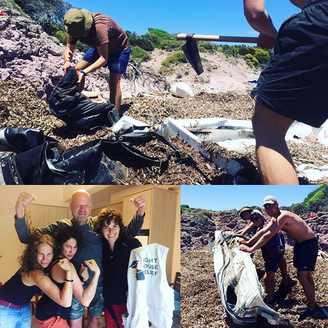 Another awesome weekend of beach cleaning followed by the handover to our new Eco Manager! 💪 #beachcleaning #eco #volunteering #lesvos