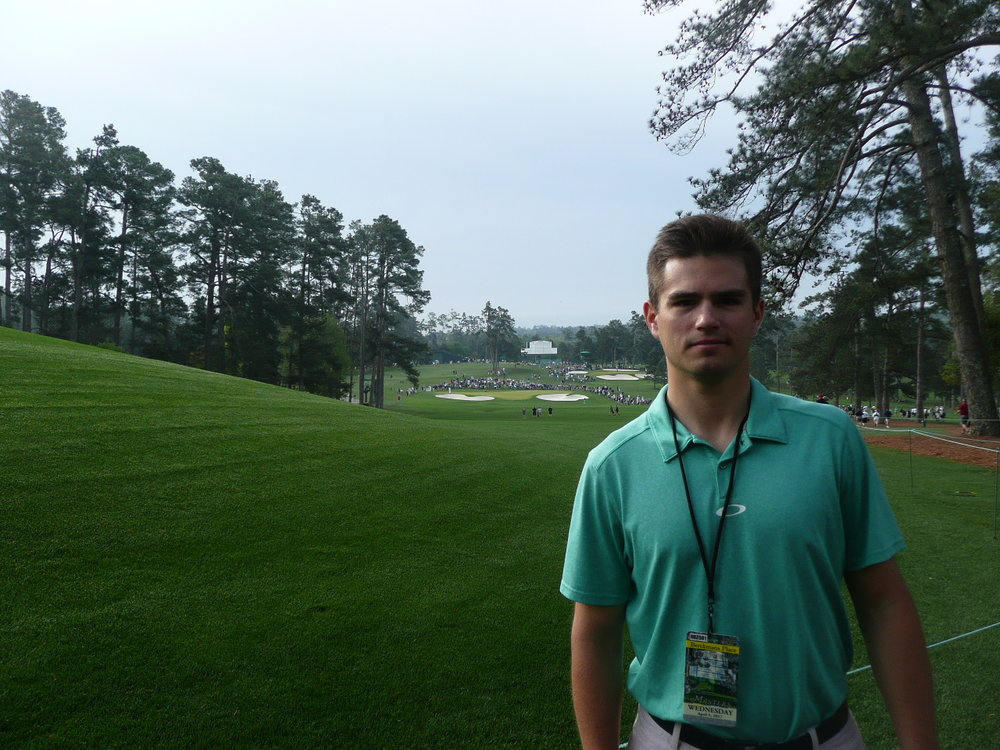 A really happy man in Augusta (2nd hole, right of the fairway)