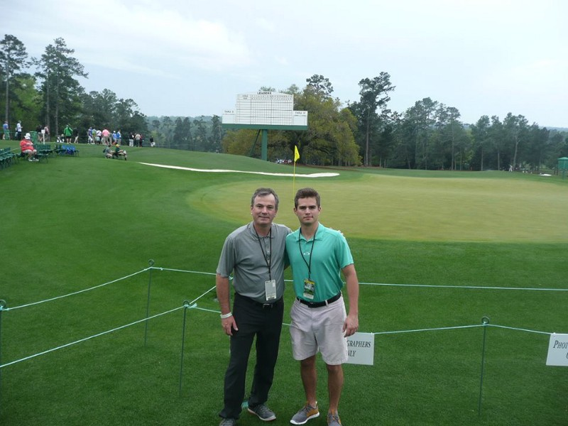 André and I behind the 18th green.