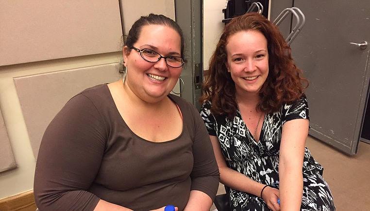 Sara Garcia, soprano (right) and Amanda Zook, piano (left)